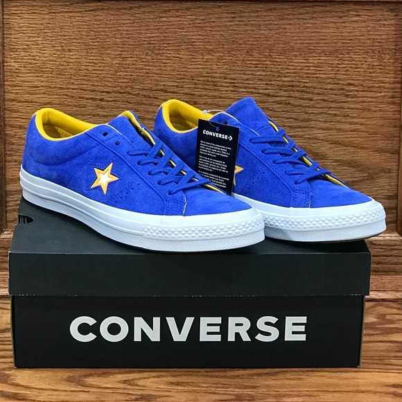 01cd7741c0e3 Converse One Star Ox Hyper Royal White Shoes